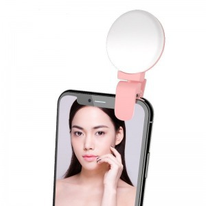 Rózsaszín mini selfie led light