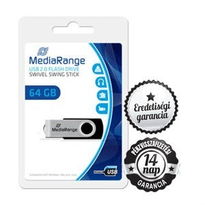 64GB MediaRange Swivel Swing USB 2.0 pendrive
