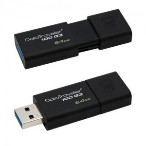 64GB KINGSTON DT100 G3 USB 3.0 PENDRIVE