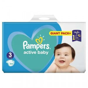 Pampers Active Baby Giant Pack pelenkacsomag 6-10kg Midi 3 (104db)