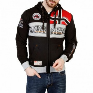 Geographical Norway nagy logós pulóver - fekete