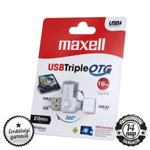 Maxell Bales Triple 16GB USB 3.0, OTG, Type-C 3.1 Pendrive