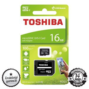 Toshiba M203 16GB micro SDHC+SD ADAPTER CLASS 10 UHS-I 1 100MB/s