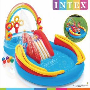 Intex Rainbow Ring Play Center 57453NP felfújható medence 297x193x135
