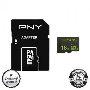 PNY Performance 16GB micro SDHC+SD ADAPTER CLASS 10 UHS-I 1 50MB/s