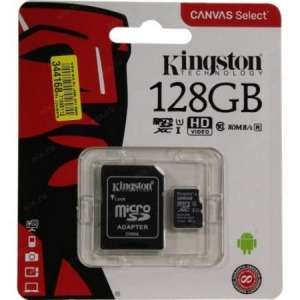 Kingston MicroSDXC Canvas Select 128GB C10 SDCS/128GB