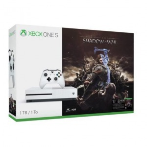 Xbox one s 1tb white + middle-earth: shadow of war